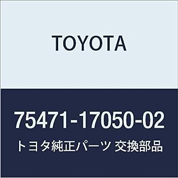 TOYOTA 75471-17050-02 Name Plate
