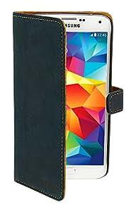 640 Funda de cuero DB / CG libro para Nokia Lumia 640 marinos / coñac SKINK tarjeta de libro NL