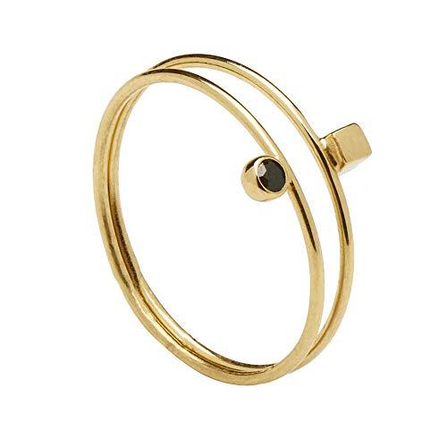 P D PAOLA – Anillo Bob Gold – Plata de Ley 925 bañada en Oro de 18k – Joyas para Mujer