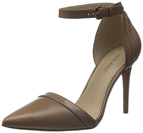 Nine West Women's Timeshare Leather Dress Pump, Taupe/Taupe, 41 B(M) EU/8 B(M) UK