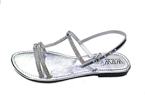Silver Women Shoes Fashion Ladies 857 Gold Size Black Sandals amp; W Silver Evening W SAN fxqUvwg