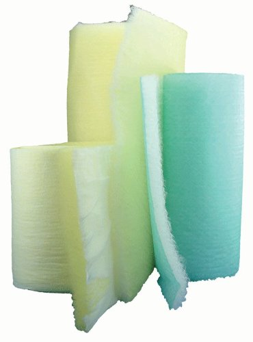 15 Gram Green & White Economy Fiberglass Roll - 24''x300' by Paint Booth Filters