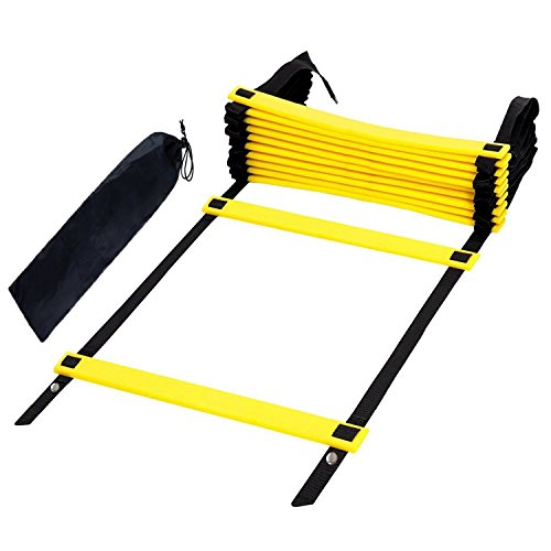 Step Ladder Training - Arespark Agility Ladder, 12 rung Durable Training Ladders for Soccer, Speed, Football with Carry Bag (Classical)