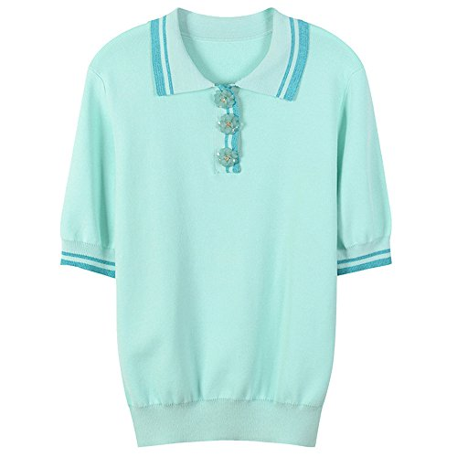 Floral Y Holgada Corta El Rayas Verano Manga Buscar Xmy Mujer De Azul A Camiseta Primavera FAR75q7wWv