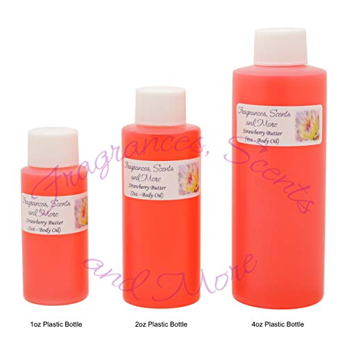 - Strawberry Butter Perfume/Body Oil (7 Sizes) - Free Shipping (4oz Plastic Bottle (120ml))