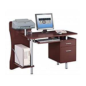 Amazon.com: Techni Mobili Stylish Computer Desk with Storage, Chocolate: Kitchen & Dining