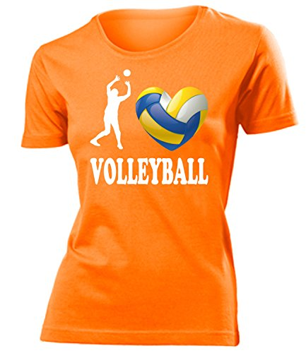 Sport - I Love Volleyball - Cooles Fun mujer camiseta Tamaño S to XXL varios colores Naranja
