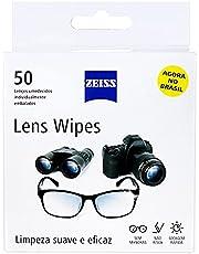 Lenços umedecidos ZEISS LENS WIPES limpeza de Lentes Caixa com 50 unidades