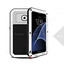 FOME Samsung Galaxy S7 Case, Extreme Hard Military Heavy Aluminum Metal Armor Tank Gorilla Glass Shockproof Rainproof Water Resistant Weatherproof Dust/Dirt/Snow Proof Anti-smudge Resistant Acoustic Port Protection Cover Case For Samsung Galaxy S7 + FOME Gift