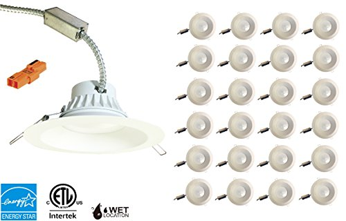 High End 8'' Inch LED Downlight 30W,120-277V, Dimmable at 120V, 2500 Lumens, Intertek & Energy Star Listed, 5 Year Warrant '' Canless Module'' Day-Light 5000K- 24 PACK by Quest