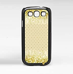 Gold Glitter and Polka Dots on Cream Background Hard Snap on Phone Case (Galaxy s3 III) by icecream design