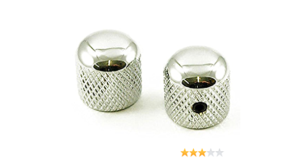 """Four Chrome Vintage Tele Style Knobs With Super Heavy Knurling For 1//4/"""" Pots"""