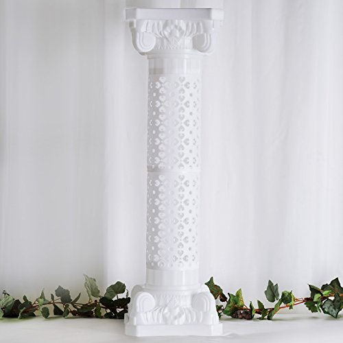 Efavormart 4 Pillars Set Venetian Roman Wedding Columns Holds Flower Plates 41 Tall Height Adjustable