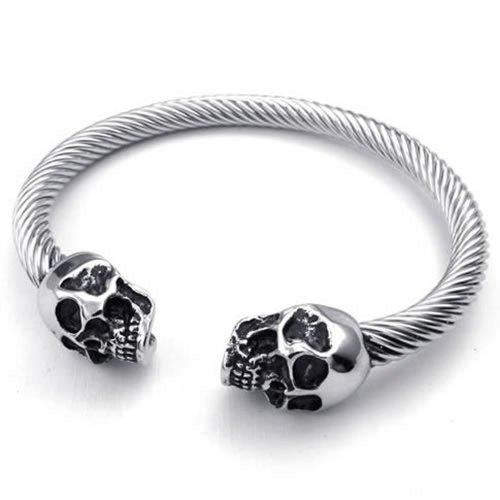 KONOV Stainless Bracelet Gothic Bangle