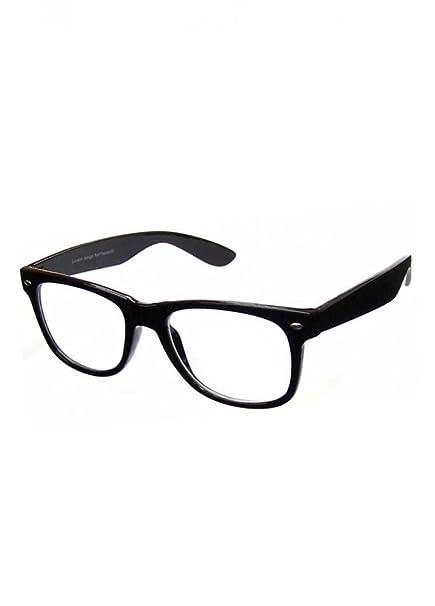 eb82d4eac7d69 PURECITY Lunettes Monture Style Retro Vintage 80 s Geek - Monture Noir - Verres  Neutre Transparent - Fashion - Tendance  Amazon.fr  Vêtements et accessoires