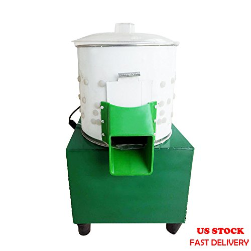 ZXMOTO Small Chicken Plucking Machine 110V Poultry Plucker Stainless Steel Feather Plucking Machine for Smaller Birds Doves Chicken