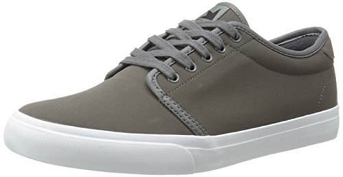 Dekline Men's Santa FE Skate Shoe,Pewter/White,6 M (Dekline White Shoes)