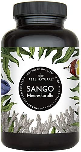 [Gesponsert]Sango Meereskoralle Kapseln - 180 Stück (2 Monate). 3300mg, davon 660mg Calcium, 330mg Magnesium (2:1 Verhältnis...