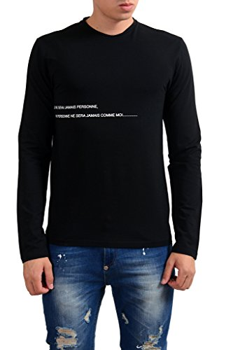 gianfranco-ferre-black-graphic-long-sleeve-stretch-mens-t-shirt-us-xs-it-46