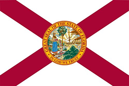 Florida State Flag - Polyester with Reinforced Edge and Grommets - 3 x 5 feet