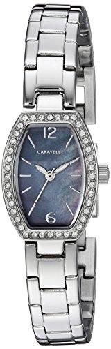 Caravelle Women's Quartz Stainless Steel Dress Watch, Color:Silver-Toned (Model: 43L204) (Steel Tonneau Stainless Watch)