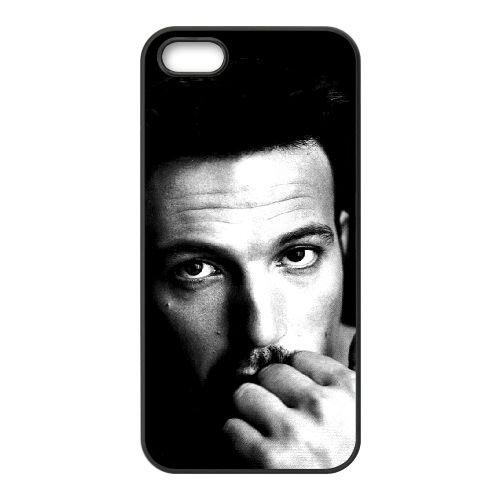 Ben Affleck 005 coque iPhone 5 5S cellulaire cas coque de téléphone cas téléphone cellulaire noir couvercle EOKXLLNCD22134
