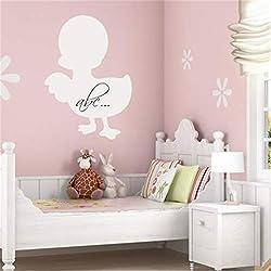 Vinyl Decal Quote Art Wall Sticker Mirror Decal Cartoon Chalkboard Duck Stickers for Nursery for Nursery Kid Room