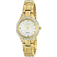 Citizen Eco-Drive EX1362-54P Silhouette Analog Display Gold Women's Watch