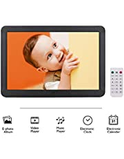 Honorall P801 8 Inches LED Digital Photo Frame Desktop Electronic Album 1280 * 800 HD 16:9 Display Supports Music/Video/Photo Player/Alarm Clock/Clock/Calendar Functions with Remote Control