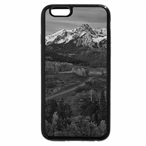 iPhone 6S Case, iPhone 6 Case (Black & White) - PLANE VIEW