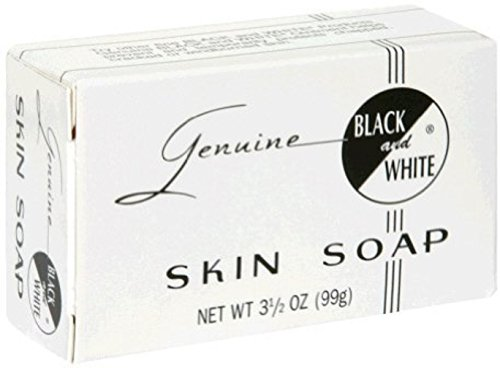 (Black & White Skin Soap Bar 3.5 oz (Pack of 3))