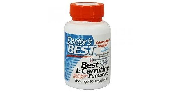 Mejores L-carnitina fumarato, 855 mg, 60 Caps Veggie - El médico de Best: Amazon.es: Salud y cuidado personal