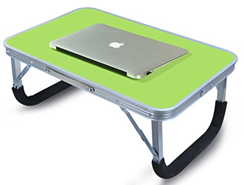 Locking Laptop Table (LandTrip Laptop Table for Bed, Superjare Portable Outdoor Camping Table, Breakfast Serving Bed Tray with Silver legs)