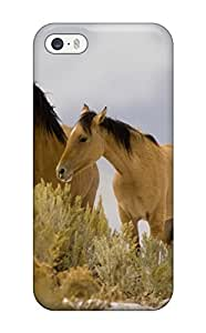 Iphone 5/5s Case Cover - Slim Fit Tpu Protector Shock Absorbent Case (horse)