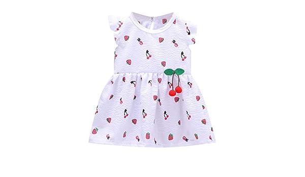 Falda con Volador para niñas pequeñas, Vestido con Mangas ...