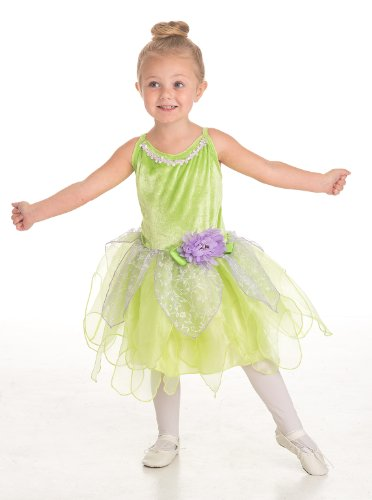Big Finish Dance Costume - Little Adventures Tinkerbell Fairy Girls Costume - Large (5-7 Yrs)