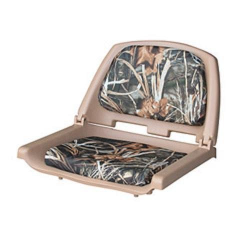 Wise 8WD139 Series Molded Fishing Boat Seat with Camoflage Cushion Pads, Tan Shell, Advantage Max 4 Cushion (Boat Fishing Seat Pedestal compare prices)