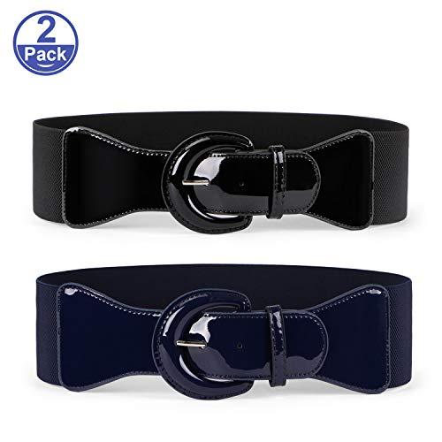 JASGOOD Women Wide Stretchy Cinch Belt Drss Elastic Waist Belts For Women Dress