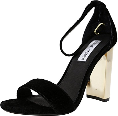 Dress Sandal Black Carrson Steve Velvet Women's Madden wq1xnC4t