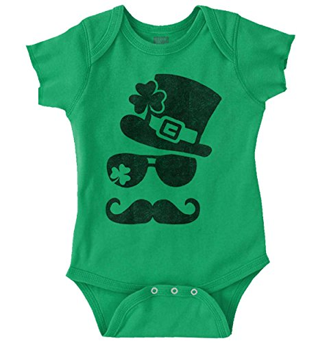 ST Patricks Day Lucky Charm Funny Shirt Cool Irish Gift PattyRomper Bodysuit,Irish Green,12 Months