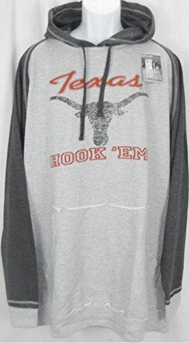 Majestic Texas Longhorns NCAA Pullover Vintage Look Hoodie Big & Tall Sizes (3XT)