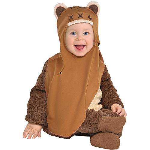 Party City Ewok Halloween Costume for Babies, Star Wars, 6-12 Months, Includes Accessories -