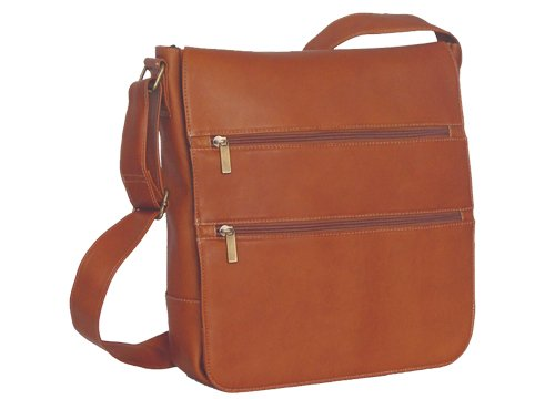 David King Co. Laptop Messenger Bag with 2 Zip Pockets Black One Size