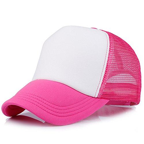 YXTech Baby Boys Girls Children Toddler Infant Cap Hat Peaked Baseball Hats Beret Kids Cap (hot pink white) ()