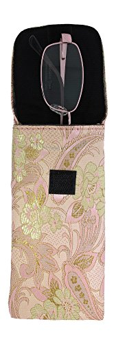 3 Pack Floral Eyeglass Case Top Closure, Slip In Eyeglass Case Soft Fits Medium To Large Glasses, Women by Ron's Optical (Image #5)
