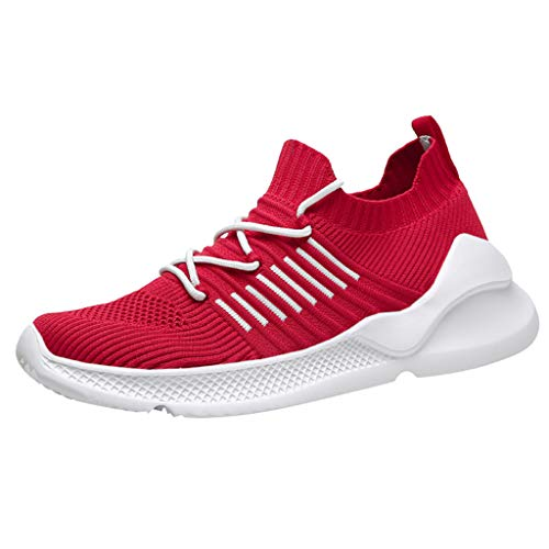 JJHAEVDY Men's Knit Mesh Breathable Comfortable Sneakers Lightweight Athletic Tennis Walking Running Shoes