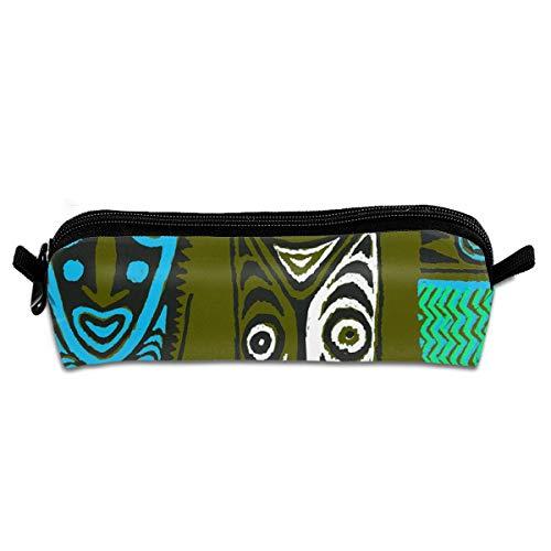 Pencil Case New Guinea Masks 2c_70 Unisex Student Zipper Polyester Pen Box Stationery Bag Lightweight Storage Bags