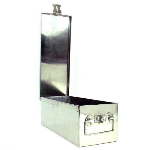 Stalwart 75-005 Metal Storage Lock Box, (Lockable Storage Box)