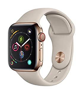 Apple Watch Series 4 (GPS + Cellular, 40mm) - Gold Stainless Steel Case with Stone Sport Band, Gold Stainless Steel with Gold Stone Sport Band - MTUR2LL/A (B07J6TRD5B) | Amazon price tracker / tracking, Amazon price history charts, Amazon price watches, Amazon price drop alerts