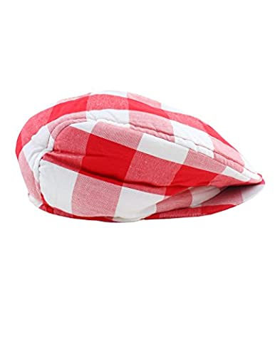 RuggedButts Infant / Toddler Boys Plaid Drivers Cap - Red/White - 12-24m - Striped Seersucker Cap